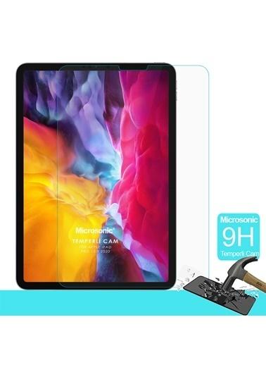 Microsonic Apple iPad Pro 12.9'' 2020 4. Nesil (A2229-A2069-A2232) Temperli Cam Ekran Koruyucu Renksiz